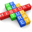 History crossword — Foto Stock