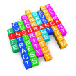 Insurance crossword — Stock Photo