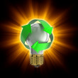 Light bulb with recycle symbol — Stock Photo #31781741