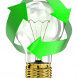 Light bulb with recycle symbol — Stock Photo