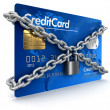 Credit Card and lock — Stock Photo