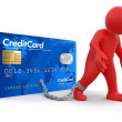 Stock Photo: Mand Credit Card