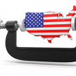 Stock Photo: USin clamp