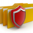 Folders and Shield — Stockfoto