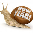 Snail New Year — Stock Photo #31782681