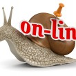 On-line snail — Stock Photo #31782715