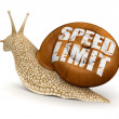 Stock Photo: Speed Limit Snail