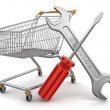 Shopping Cart with Tools — 图库照片