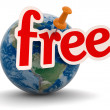 Stock Photo: Planet and free