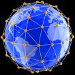 Network on globe — Stock Photo