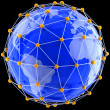 Network on globe — Foto Stock