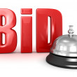 Bid and service bell — Stock Photo