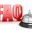Service bell and FAQ — Stock Photo