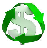 Recycle dollar — Stock Photo