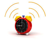 Alarm clock cartoon — Stock Photo