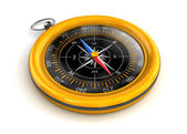 Golden vintage compass — Stock Photo