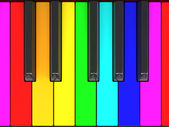 Color piano keys — Stock Photo