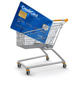 Shopping Cart and Credit Card — Stock Photo