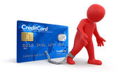 Man and Credit Card — Stock Photo