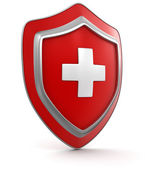 Shield with cross — Stock Photo