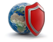 Globe and Shield — Foto Stock