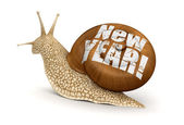 Snail New Year — Stock Photo
