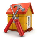 House and Tools — Stock Photo