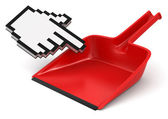 Dustpan and Cursor — Stock Photo