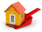 House on dustpan — Stock Photo
