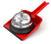 Service bell on dustpan — Stockfoto