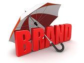 Brand under Umbrella — Stock Photo