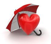 Heart with Umbrella — Stock Photo