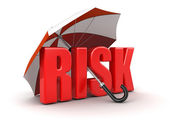 Risk covered by umbrella — Stock Photo