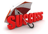 Success uder umbrella — Stock Photo
