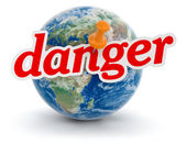 Danger and planet — Stock Photo