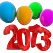 2013 on COLOR balloons — Stock Photo