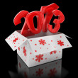 Stock Photo: New year 2013 in box