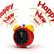 Happy New Year with Alarm clock — Stock Photo