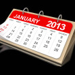 Calendar January 2013 — Stock Photo