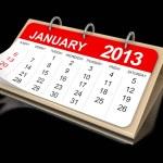 Calendar January 2013 — Stock Photo