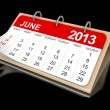 Calendar June 2013 — Stock Photo #32529839