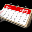 May calendar — Stock Photo