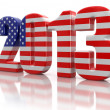 2013 and US flag — Stock Photo