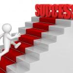 Man running to Success — Stock Photo #32531329