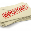 Stock Photo: Rubber Stamp important