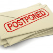 Stock Photo: Postponed letters
