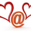 E-love sign — Stock Photo