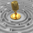 Maze to Microphone — Stock Photo