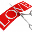 Love and scissors — Stock Photo
