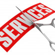 Stock Photo: Scissors and Services